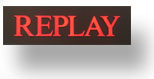 Replay shop sign