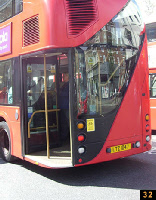 Rear door on London bus