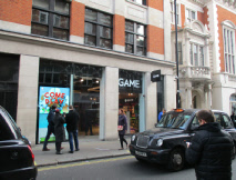 Game shop in London's Soho