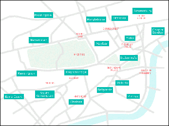 Map of London neighbourhoods from Street Sensation